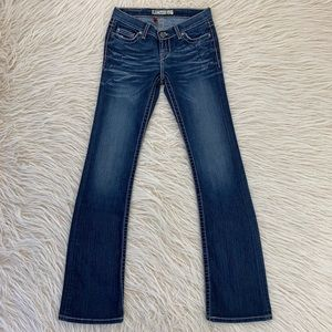 BKE Lexi Jeans bootcut stretch denim long buckle